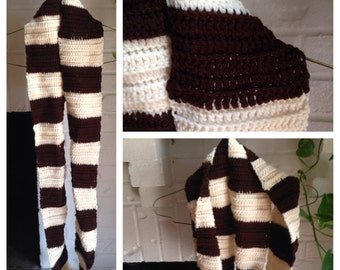 Infinity brown scarf