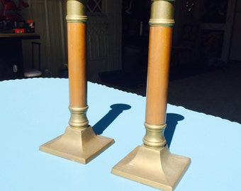 Brass and copper Candle sticks