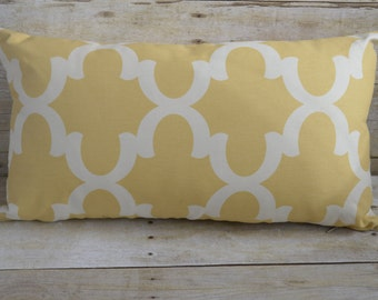 Yellow Moroccan Lumbar Pillow