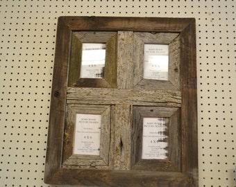 Rustic Barnwood 4 x 6 Window Collage Barn Wood Picture Frame