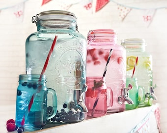 Drinks dispenser for any celebration from weddings to baby-shower / Blue, Pink or Green drink dispenser