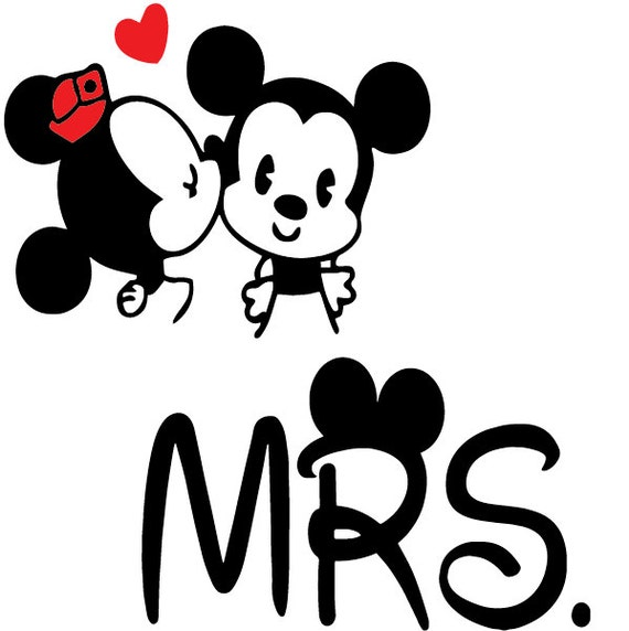 Mr And Mrs Decal Disney Decal Mickey And Minnie Decal Disney