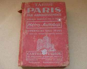 Vintage French guide for Paris in 3 languages, French, English and German.