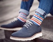 Aztec colorful funny socks for women and men. Fun patterned women socks. Free delivery!