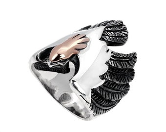 Men's Eagle silver ring