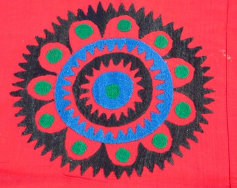 "Vintage UZBEK Samarkand SUZANI Cover Wall Hanging Brilliant Simplicity 8'6""x6'1""/260x185 ccm FREE Shipping Item No. S-44"