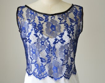 Married top, top royal lace cocktail