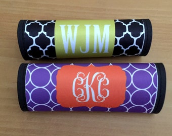 Personalized Luggage Handle Wrap - Monogrammed Luggage Finder - Personalized - Monogram Gift