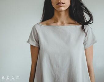 Simple Grey Midi A-Dress