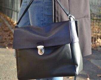 Leather shoulder bag, Leather cross-body bag, leather iPad bag, leather messenger bag