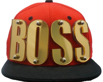 FORHEDZ Create - Your - Own BOSS Custom Made 3D Mirrored Letter Hats and Headwear