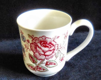 "Johnson Brothers ""Rose Chitz"" Mug Ironstone"