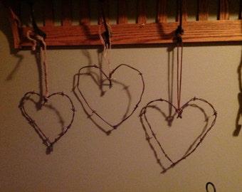 Barber Wire Valentine Heart