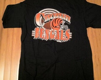 Vintage Cincinnati Bengals T Shirt size XL tee 90s deadstock NFL Football nwot Dalton boomer esiason