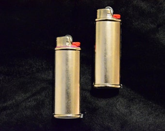 2 pack (Two) Blank Bic Lighter Case Cover Holder Metal