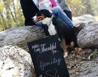 Today, I am Thankful For... Wooden Chalkboard