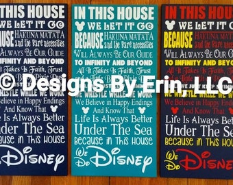 """In This House.... 12"""" by 24"""" wooden wall art"""