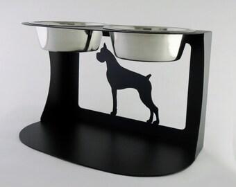 Boxer Dog Bowl Stand