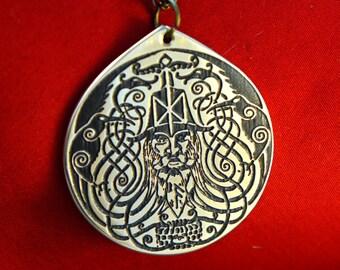 Odin Brass Pendant ASGARD Viking Celtic Norse amulet