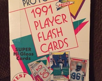 1991 Pacific NFL Pro Football Flash Card Box