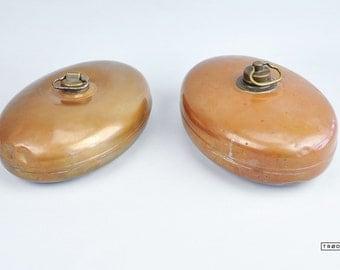 Oval Hot Water Bottle Copper Bed Warmer Foot Warmer