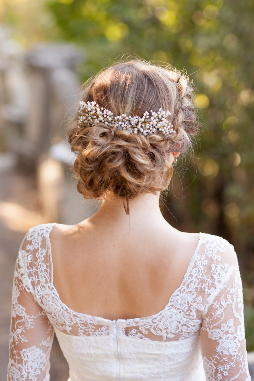 Wedding Hair Comb Pearl Bridal Comb Bridal Headpiece Wedding