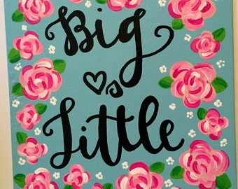 big loves little lilly pulitzer sorority canvas