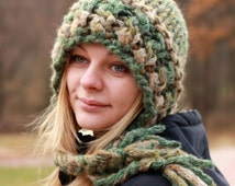 Slouchy Hat / Chunky Knit Hat / Hand Knit Hat / Teens Hat / Womens Hat / Thick Knit Hat / Winter Hat / Knitted Hat