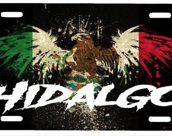 """Hidalgo Mexico Aluminum License Plate Placa  6"""" x 12"""""""