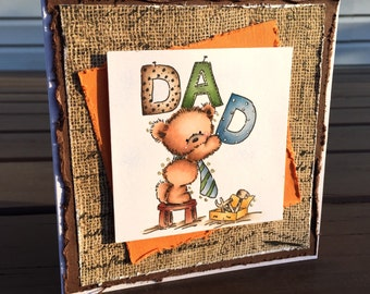 father greeting card dad greeting card, Paper greeting card, fathers day card, dad greeting card, handmade Fathers, greeting cards