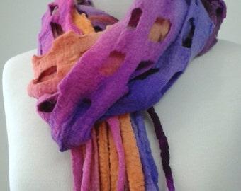 Wool Felt Scarf Shawl Wrap Wool Scarf Gifts For Women Winter Scarf Wool Scarf Orange Pink Purple wool scarf. 11567