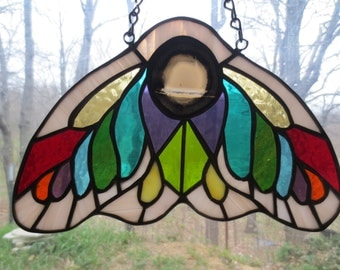 Moth Stained Glass Suncatcher