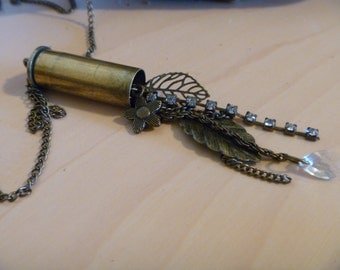 Bullet Shell Necklace with Dangling pendent