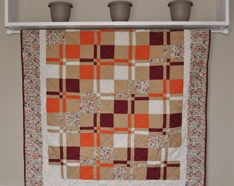 Modern Disappearing 9 Patch quilt