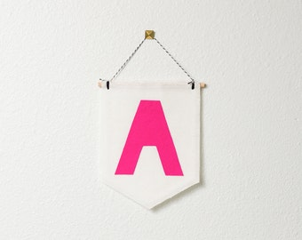 CUSTOMIZABLE MID-SIZE wall hanging / banner -- monogram // nursery banner, custom wall banner, monogram wall decor, personalized gift idea