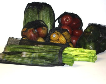 6 Produce Bags,Shopping Bag, Fruits and Vegetables