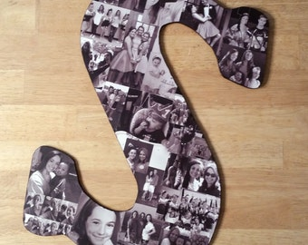 Photo Collage, Photo Letters, Custom Photo Collage, Letter Photo Collage, Personal Collage, Personal Photos, Customized Photo Letters, Art
