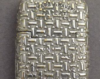Stamp case nickel over brass stamp case c1870
