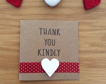 Thank You Kindly Card Pack - Hand Stamped