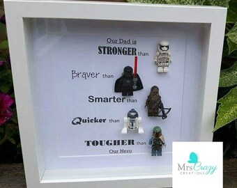 Star Wars Lego minifigure frame