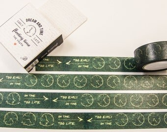 Washi masking tape - time / Filoxafing DIY scrapbooking decorative ribbon tape