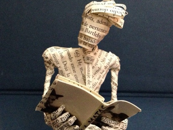 Book Art, Vila-Matas, Bartelby & Company, Book sculpture, Paper sculpture, Little Reader, Librarian, Bookseller, Book Lover, Paper Art