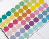 """54 blank dot stickers, 0.5"""" round stickers, transparent stickers, circle stickers, life planner stickers, reminder checklist sticker"""