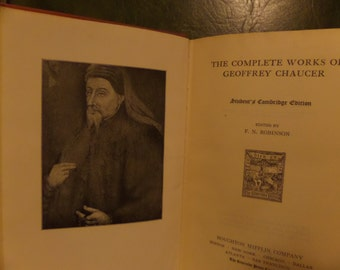 Complete Poetical Works of Chaucer 1933
