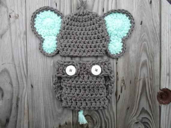 Crochet Elephant Outfit Elephant Costume Baby Elephant Set