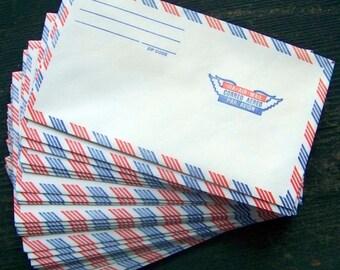 "Vintage Via Air Mail Envelopes Correo Aereo Par Avion Lot of 27 3 5/8"" X 6 1/2"" Free US Shipping"