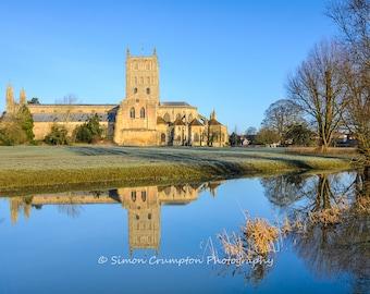 Tewkesbury Abbey - Gloucestershire - England - United Kingdom - Landscape - Fine Art Print