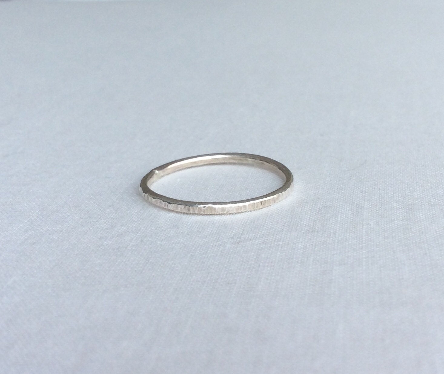 sterling silver hammered ring hammered silver ring