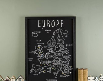 Personalised Europe Map With Pins