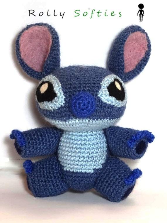 Amigurumi Lilo Y Stitch : Stitch amigurumi 100% handmade crochet plush by RollySofties